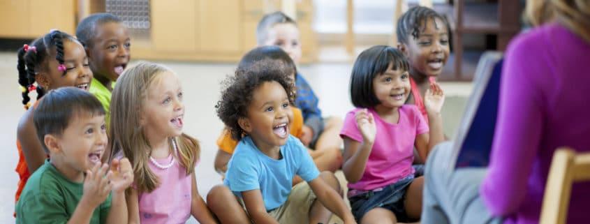 Pre-school children in a classroom.